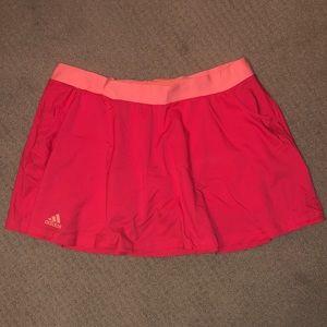 Adidas coral tennis skirt w/ built in peach shorts